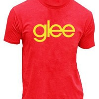 Glee TV Show Logo Red Mens T-shirt Tee (Adult Large)