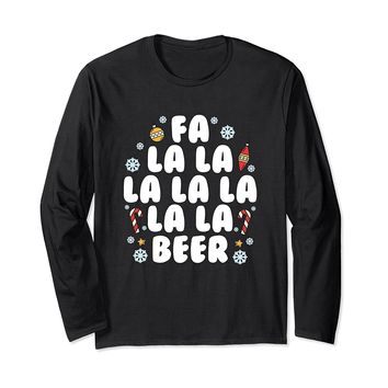 Fa La La Beer Funny Long Sleeve T-Shirt