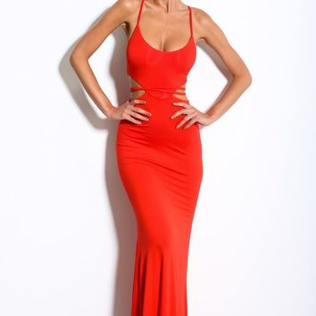 HelloMolly | Thunderstorm Maxi Red - Party Dresses - Dresses
