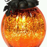 Better Homes And Gardens Glass Pumpkin Scented Wax Warmer Lighted New in Box