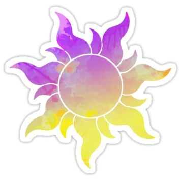 'Tangled Sun inspired silhouette' Sticker by InspiredShadows