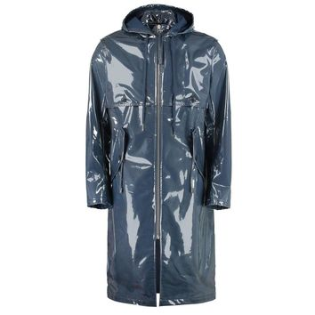 Blue PVC Raincoat by Helmut Lang