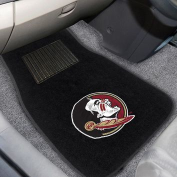 "Florida State 2-pc Embroidered Car Mats 18""x27"""