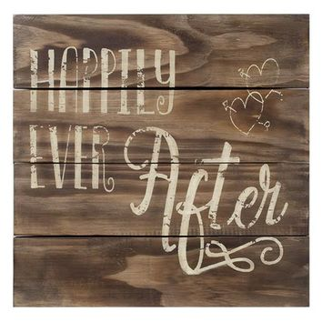 Happily Ever After Slat Sign - *FREE SHIPPING*