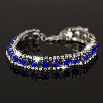 New Fashion Hot Women's/Girl's Filled Colorful Austrian Crystal Bracelets & Bangles Gift Jewelry B022