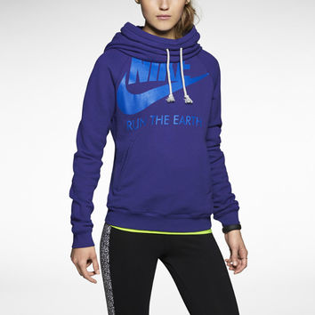 Nike Run Funnel Women's Hoodie - Deep Royal Blue