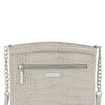Halogen 'Pine Street' Croc Embossed Leather Crossbody Bag