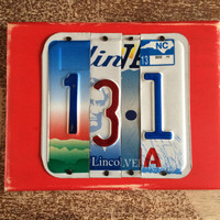 HALF MARATHON 13.1 Custom Recycled LICENSE Plate Sign Art Wall Hanging Runner Gift for Him Gift for her