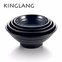 KINGLANG hot sale AJISEN Ramen bowl korean japanese restaurant use big plastic melamine better than procelain soup noodles bowl