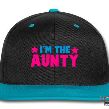 new i'm the aunty aunt with cute little stars Snapback