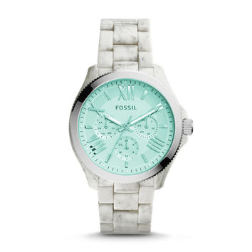 Cecile Multifunction Shimmer Horn Acetate Watch