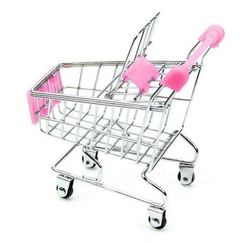 Mini Supermarket Handcart Shopping Utility Cart Mode Storage Basket Desk