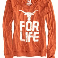 AEO Women's Texas Vintage Long Sleeve T-shirt (Orange)
