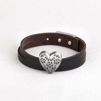 Story Heart Bracelet - Forget Me Not