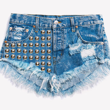 Treasure Acid Studded Babe Shorts