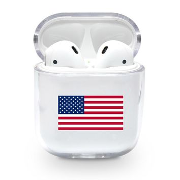 America USA Flag Airpods Case