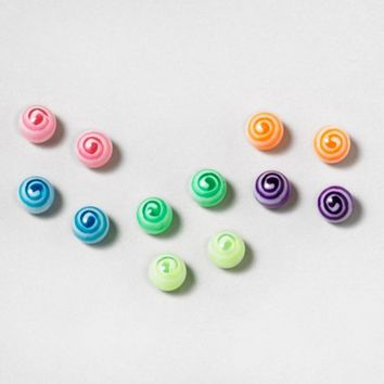 Color Swirl Magnetic Earring Set | Claire's