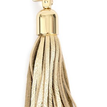 Round Tassel Keychain Clip-on by Satchel
