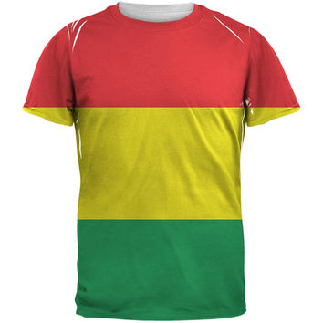 Rasta All Over Adult T-Shirt