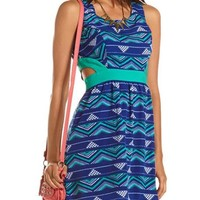 Cutout Tribal A-Line Dress: Charlotte Russe