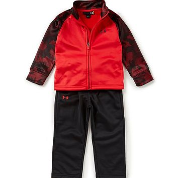 Under Armour Little Boys 2T-7 Utility Zip-Front Printed-Sleeve Jacket & Pants Set | Dillards