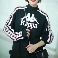 Kappa cotton round neck long-sleeved sweater street men and women lovers section G-WMGCD