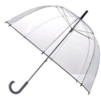 Totes Clear Bubble Umbrella - Silver Trim