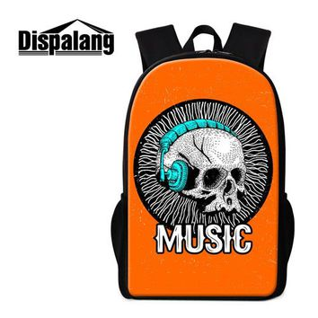 Cool Backpack school Dispalang Cool Skull Backpack Patterns Personalized School Bag for Teenager Boys Primary Students Bookbag Girls Day Pack Mochila AT_52_3