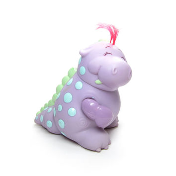 Fig Boot Strawberry Shortcake Vintage Baby Needs A Name Pet - Purple Dinosaur with Blue Spots, Red Hair