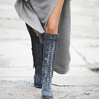 Faryl Robin + Free People Womens Caspian Tall Lace Up Boot