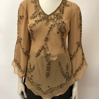 Georgette Hand Beaded Top