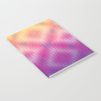 Pink Ombre Geometric Notebook by Tanyadraws