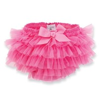 Mud Pie Baby-girls Newborn Chiffon Bloomer, Hot Pink, 0-6 Months
