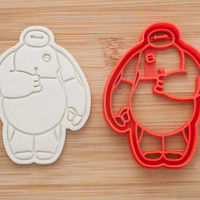 Baymax with Lollipop.  Big Hero 6.  Cookie cutters.