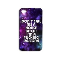 Funny Purple Galaxy Unicorn Quote Cute Phone Case iPhone Fun Cover Cool Horse