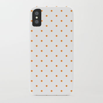 Small Orange Polka Dots by CoolFunAwesomeTime