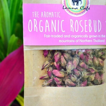 Organic Rose Bud Tea Packet 60g // Skin Purifier Herbal Tea // Fair-trade Tea // Aromatic Naturally Sourced // Flower Tea // Organic Tea