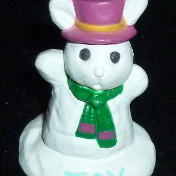 Hallmark Merry Miniature Winter Joy Bunny Rabbit Figurine