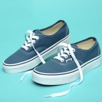 """Vans"" Casual Classic Shoes Retro  low tops Shoes Blue-white soles"