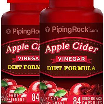 Apple Cider Vinegar Diet Formula 2 Bottles x 84 Quick Release Capsules Dietary Supplement