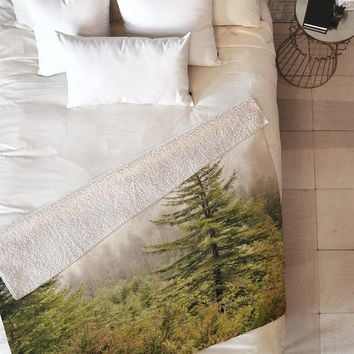 Catherine McDonald Into The Mist Fleece Throw Blanket