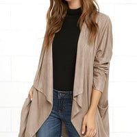 Dream Day Taupe Suede Jacket