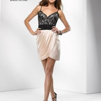 Black & Champange Satin & Lace Beaded Sweetheart Homecoming Dress - Unique Vintage - Prom dresses, retro dresses, retro swimsuits.