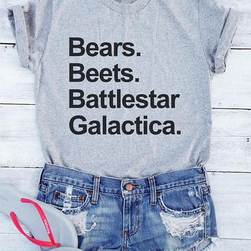 Bears Beets Battlestar Galactica.  The Office, T-Shirt