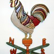 Wood Sculptured Rooster Weathervane Would be a Great Addition to your Kitchen or Home Decor. The piece would be great for collectors!