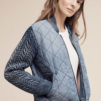 Quilted Chambray Bomber