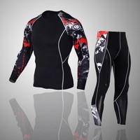 Fitness clothes men sports run tights training compression clothes moisture perspiration  thermal underwear stretch clothes