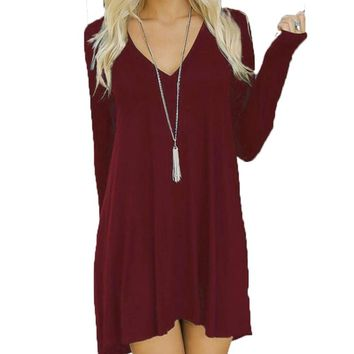 MOKINGTOP Long Sleeve Dress