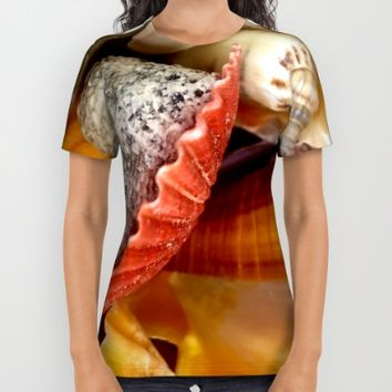 Seashells All Over Print Shirt by UMe Images