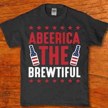 Abeerica the Brewtiful awesome Beer drinking t-shirt for Men